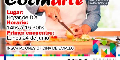 """""""Cocinarte"""", encuentros de cocina básica y comidas saludables"""