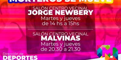 MORTEROS SE MUEVE LLEGA A JORGE NEWBERY Y MALVINAS