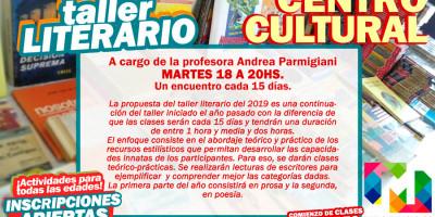 """COMIENZA """"Taller Literario"""" en el Centro Cultural"""