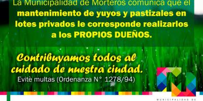 MANTENIMIENTO DE LOTES PRIVADOS