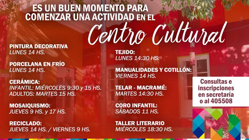 ¡NUEVO CICLO DE TALLERES EN EL CENTRO CULTURAL!