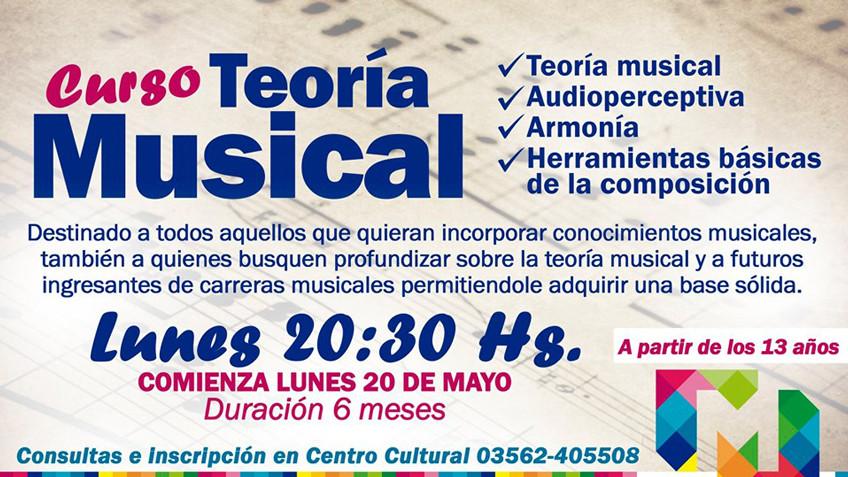 Más cursos en el Centro Cultural TEORÍA MUSICAL